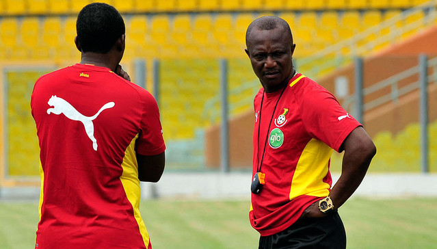 Kwesi Appiah and assistant Maxwell Konadu (back)