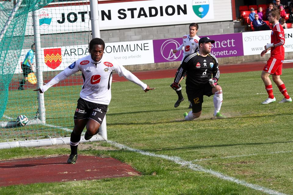 Mahatma Otoo scored for Sogndal in the Norwegian top-flight on Sunday