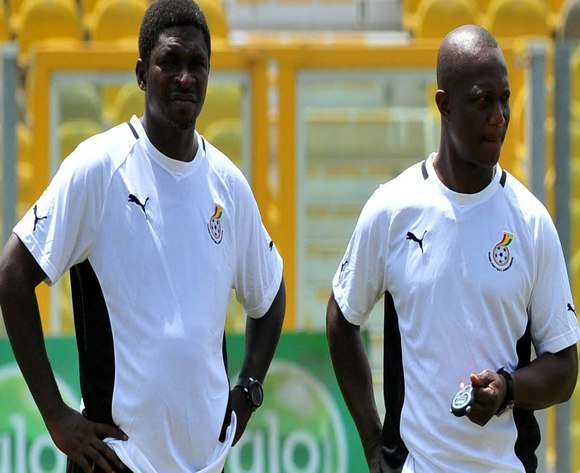 Maxwell Konadu( left) and his boss Kwesi Appiah in training.
