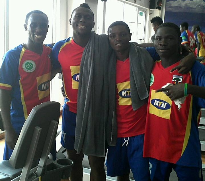 Paul Acquah, second from right with Emmanuel Hayford and Gilbert Fiamenyo, is hoping for an improved season