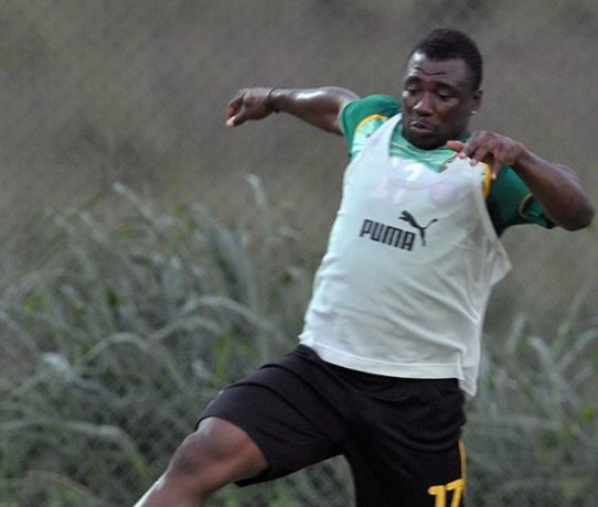 Rahim Ayew training at the 2010 Africa Cup of Nations.