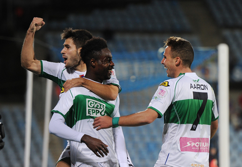 Richmond Boakye-Yiadom scored the only goal for Elche in their win over Getafe.