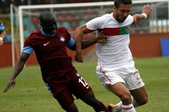 Shaibu Yakubu, left, fears Trabzon could be relegated