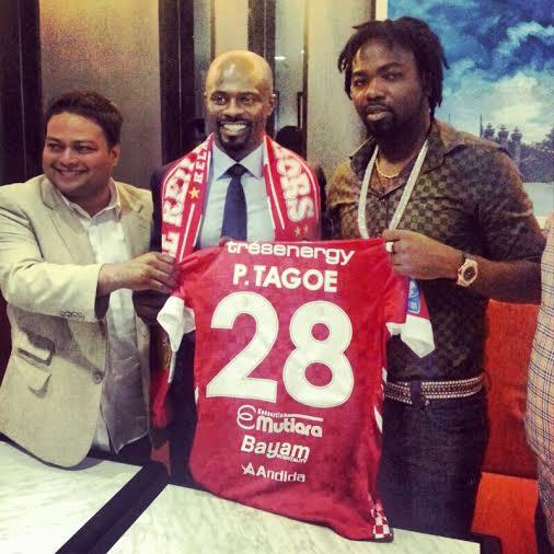 Prince Tagoe will wear the no.28 shirt at Kelantan