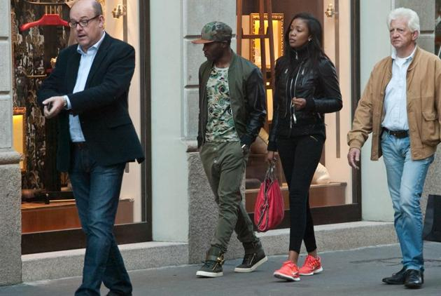 Kwadwo Asamoah and wife Bertha