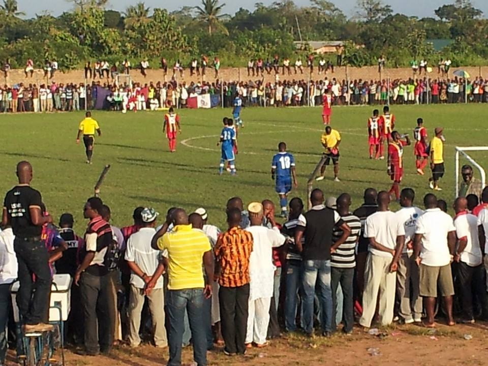 Heart of Lions fans during the first round fixture against Hearts in Kpando