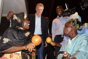 Switzerland coach Hitzfeld arrives in Ghana to launch Allsports website