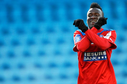 Accam scored for Helsingborg on Monday night