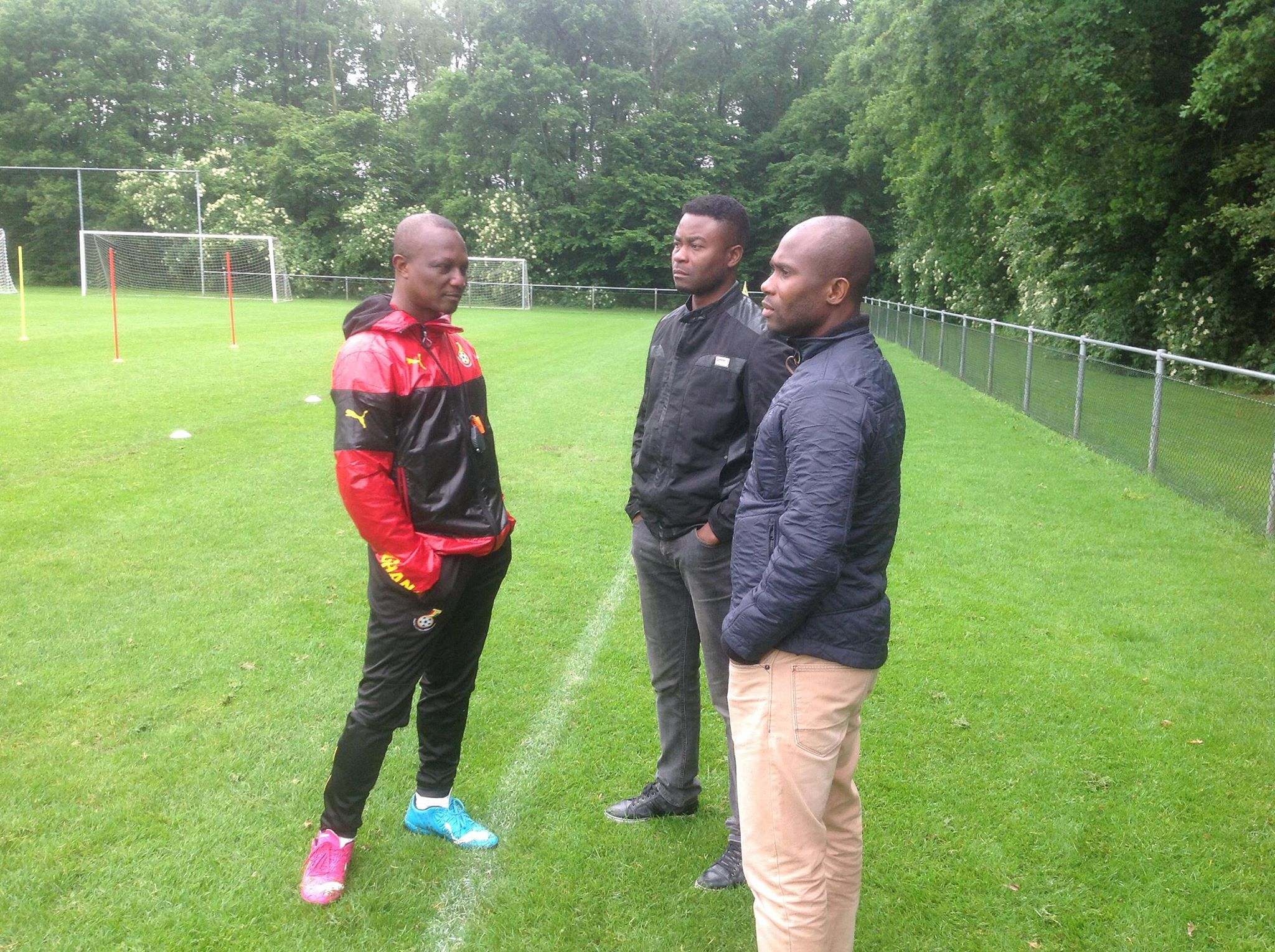 From Left: Kwesi Appiah, Eric Addo and Matthew Amoah