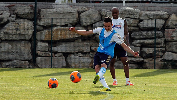Andre Ayew training at Marseille