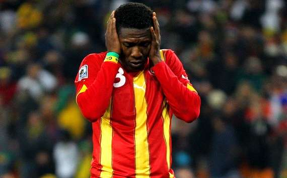 Asamoah Gyan missed the most important penalty of his life against Uruguay