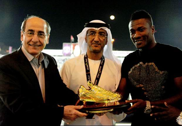 Asamoah Gyan will be handed the Golden Boot for the third straight season in the UAE