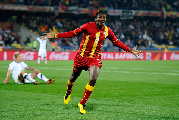 Asamoah Gyan's goal at the 2010 World Cup against USA