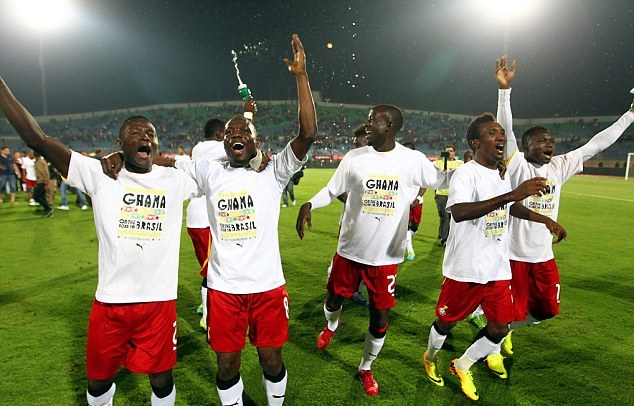 Black Stars will be making a third successive appearance at the World Cup in Brazil