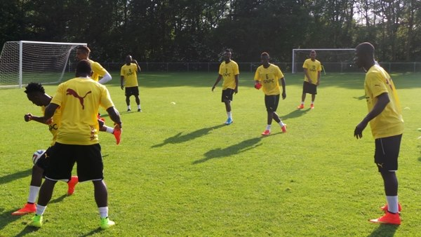Black Stars training in Arnhem