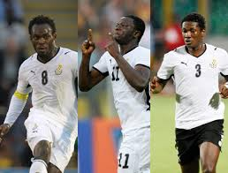 Essien, Muntari and Gyan expected to shine in Brazil