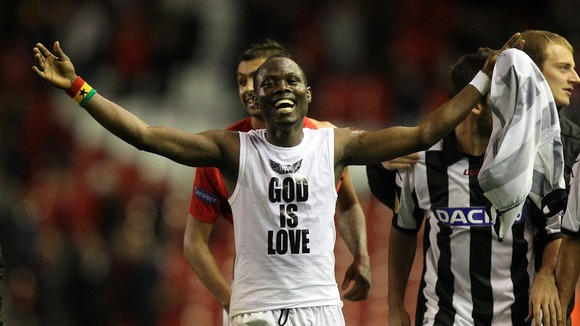 Emmanuel Agyemang-Badu scored a late equaliser for Udinese on Saturday afternoon