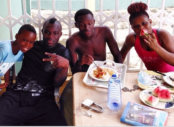 Emmanuel Frimpong spending time in Ghana with his family
