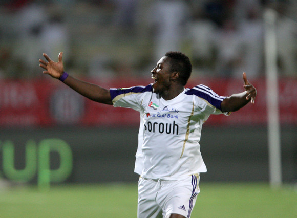 VIDEO: Watch Asamoah Gyan's tap in goal which won the President Cup for Al Ain