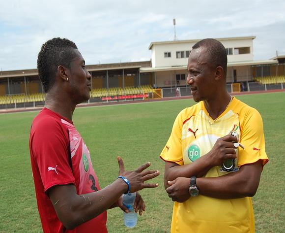 Asamoah Gyan (left) and Kwesi Appiah