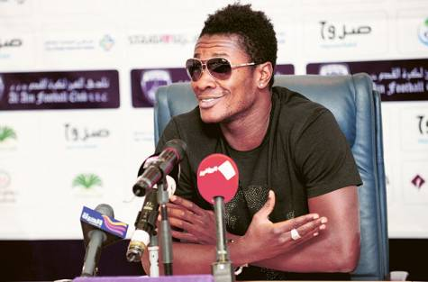 Asamoah Gyan has been nominated for the Arabian Gulf League Foreign Player of the Year.