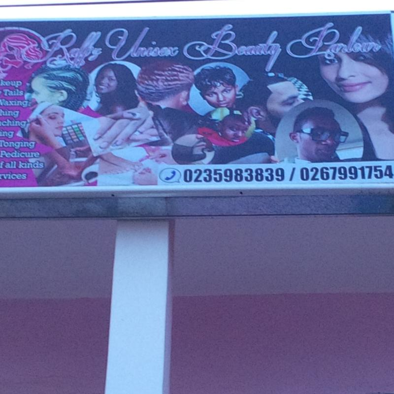 Harrison Afful's wife Beauty Parlour