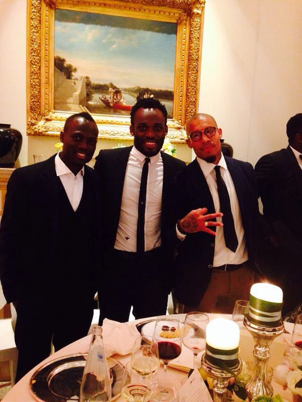 Badu, Essien and AC Milan star Nigel de Jong