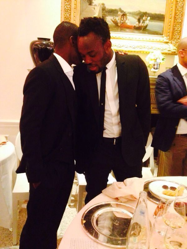 Close interaction - Badu chats with Essien