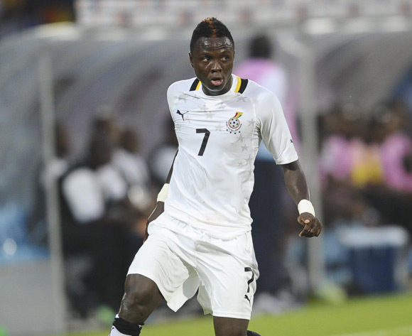 Samuel Inkoom in action for Ghana at the 2012 Nations Cup.