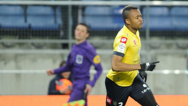 Jordan Ayew scored for Sochaux on Sunday night