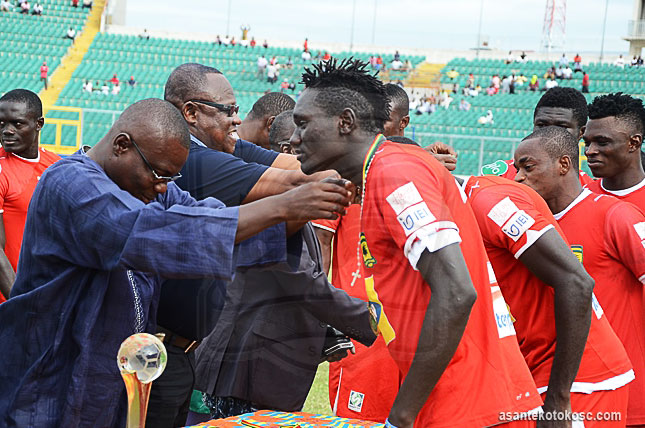Joseph Ochaya, first from right, is set to leave Kotoko