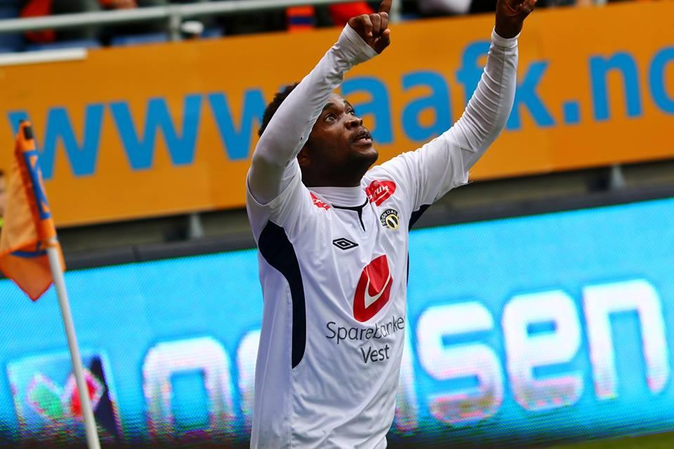 Mahatma Otoo scored an overhead kick for Sogndal FF