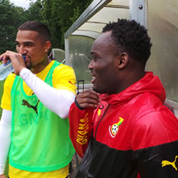 Michael Essien has arrived in Ghana's camp in the Netherlands