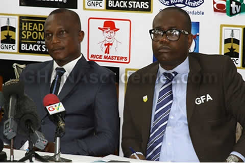 Ghana FA President with coach Kwesi Appiah at the squad naming press conference