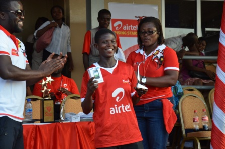 Priscilla Okyere adjudged girls winner of the maiden edition of Airtel Rising Star in Ghana.