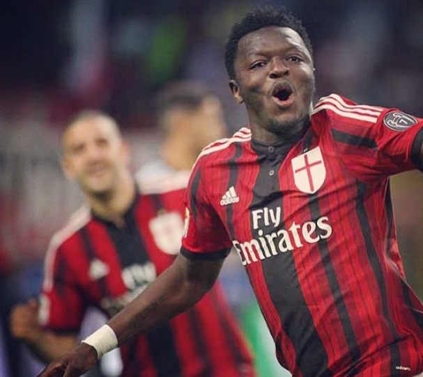 Sulley Muntari scored for AC Milan