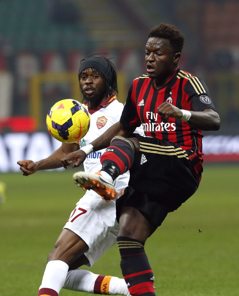 Sulley Muntari scored a deflected goal for AC Milan