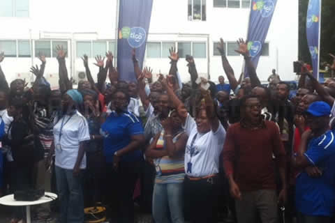 Tigo Staff enjoying the exciting launch on Friday