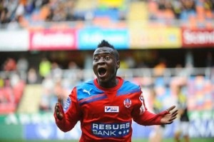 Helsingborgs winger David Accam was aware that Manchester United were looking at him last night and he did not disappoint after scoring in front of the Reds' scouts.