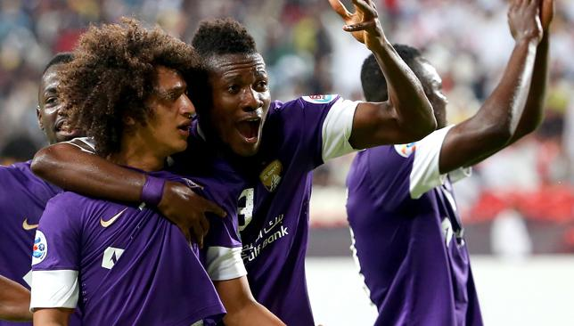Time to Boss it: Abdulrahman (l) & Gyan (c) will be crucial to Al Ain's chances.