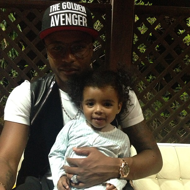Andre Ayew and daughter