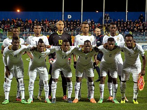 Madagascar caused a surprise with a 2-1 win over visitors Uganda in a 2015 Africa Cup of Nations first round, first-leg tie on Sunday in their quest to play Ghana in group phase.