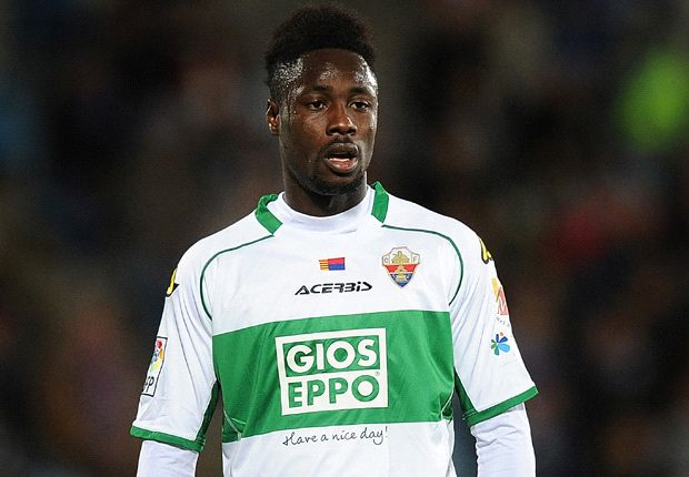 Richmond Boakye-Yiadom scored in Elche's 3-1 defeat to Sevilla.