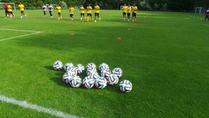 Ghana have started to practice with the official 2014 World Cup ball, the 'Brazuca' even before the tournament starts in Brazil.