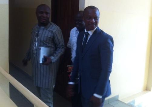 Ghana coach Kwesi Appiah arrived at the GFA headquarters
