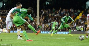Scotland's resurgence under Gordon Strachan continued with a strong performance at Craven Cottage but a late equaliser denied them victory against World Cup-bound Nigeria.