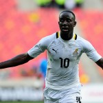 Ghana winger Albert Adomah was painting his mother's house in 2010 but set to make history in Brazil