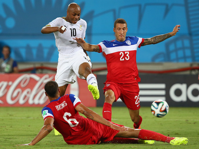 Andre Ayew got Ghana's consolation in the defeat to USA