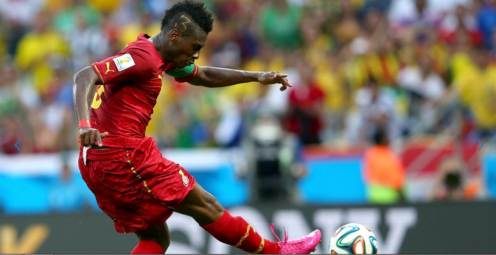 Asamoah Gyan has equalled Africa's goal record at the World finals