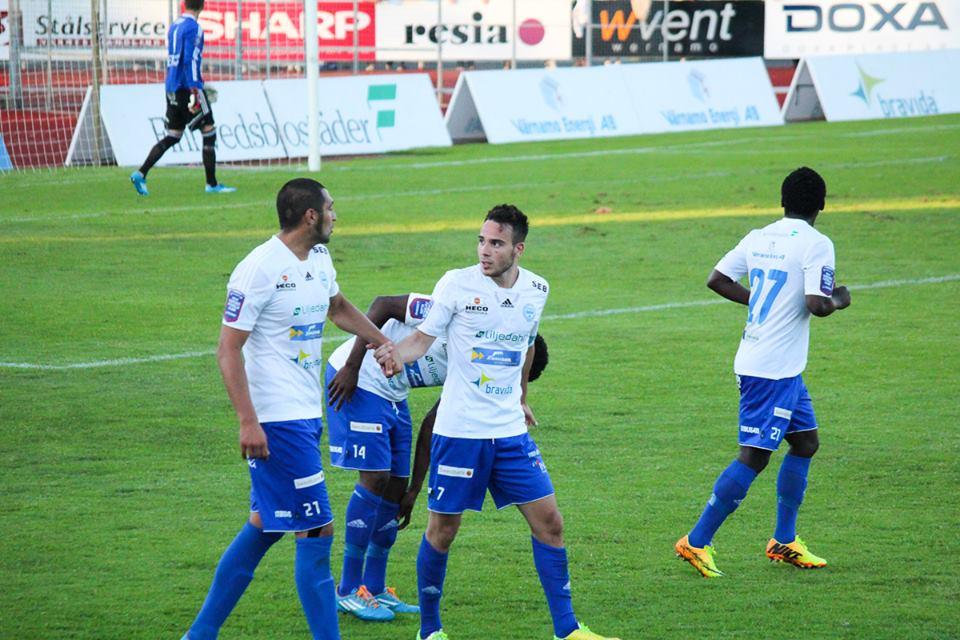 Benjamin Fadi scored for Varnamo on Monday night